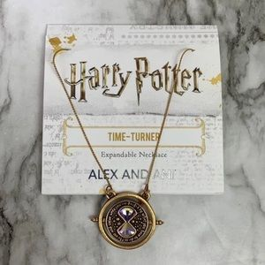 NWT Alex and Ani Harry Potter Time Turner Necklace